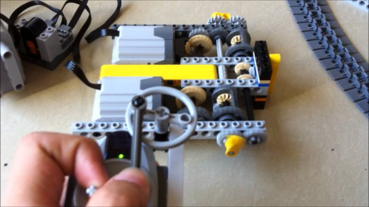 Lego Tank Steering Mechanism Double Differential Youtube