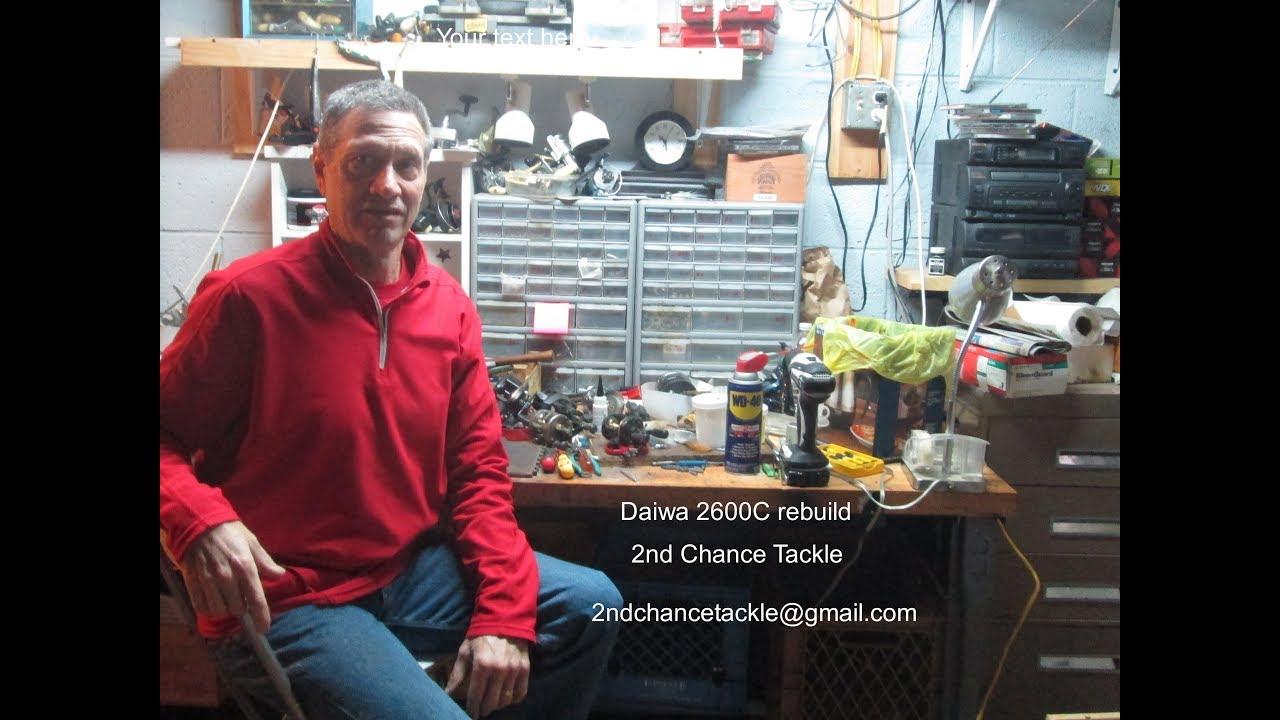 Daiwa 2600c take apart and rebuild using a parts reel for