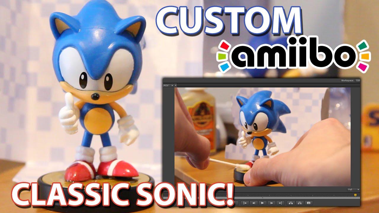 How To Create A Classic Sonic Custom Amiibo Simple Sonic Amiibo Mod Fan Made Tutorial Youtube