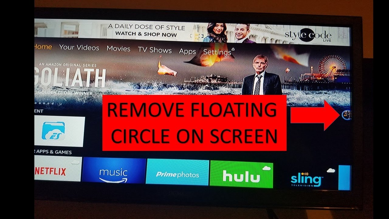 Remove Floating Circle on the TV screen - ES file explorer fix