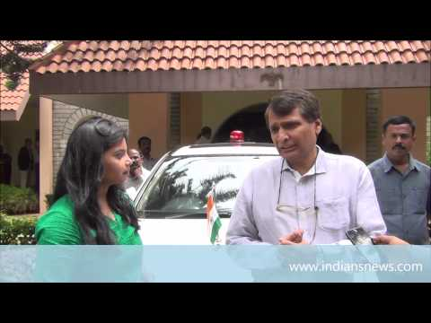 union railway minister Suresh prabhu interview with Indiansnews at NIAS