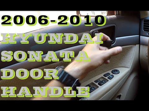 How To Replace Inside Door Handle Hyundai Sonata 2006 2010 Youtube