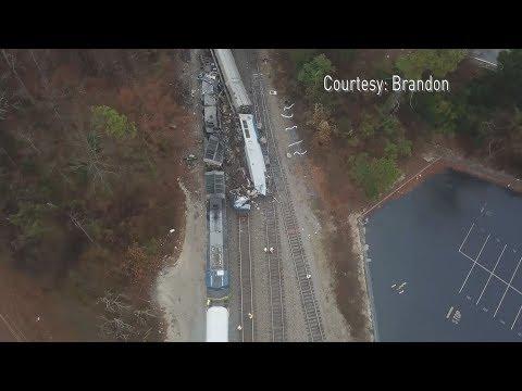 Drone Video | Amtrak Train Crash in South Carolina