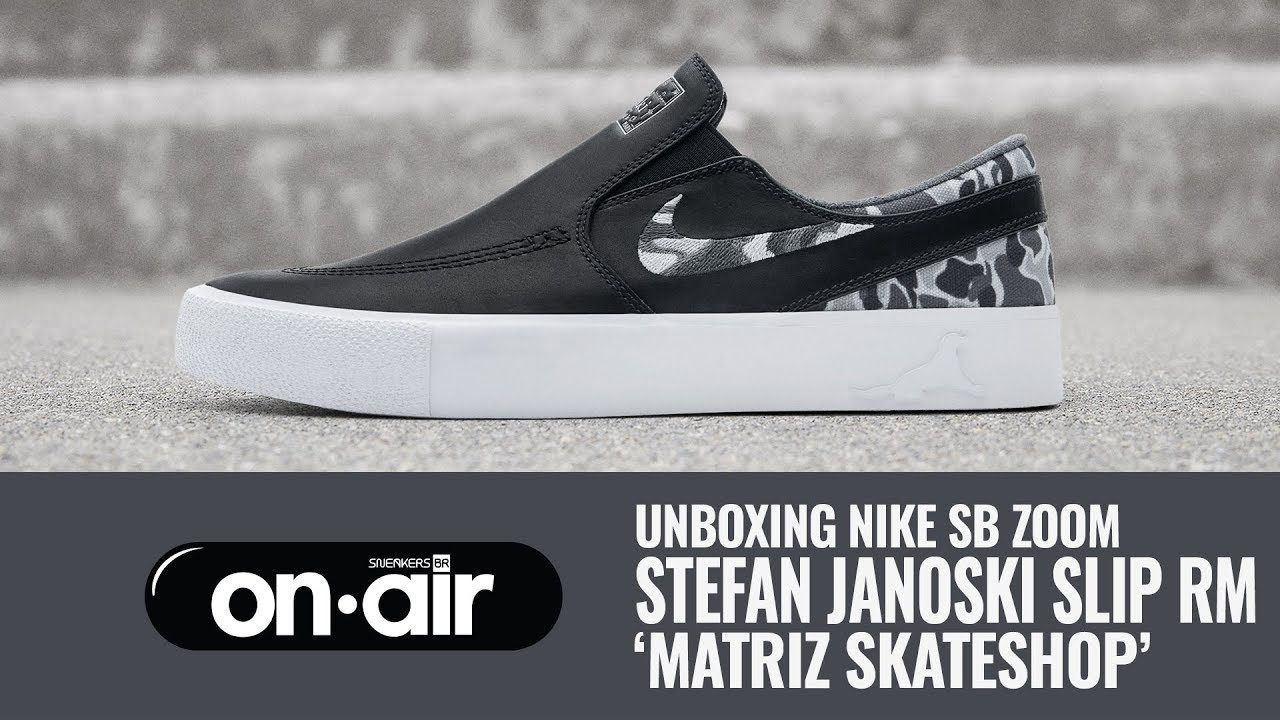 cb074bff78 SBROnAIR Vol. 137 - Unboxing Nike SB Zoom Stefan Janoski Slip RM
