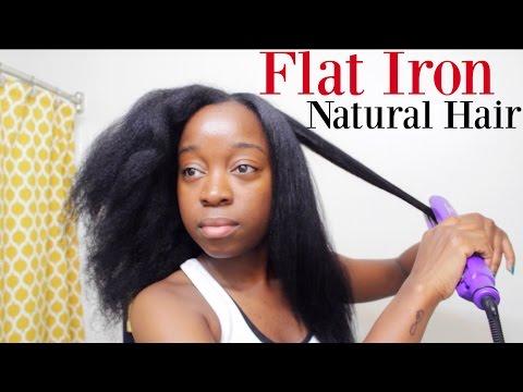 Flat Iron On NATURAL HAIR 2016