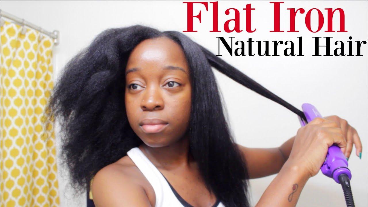 flat iron natural hair 2016