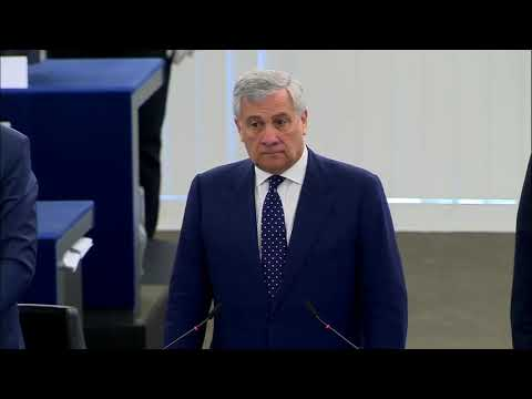 Brexit Party Turn Their Backs On EU Anthem During 2019 European Parliament Opening Sesssion
