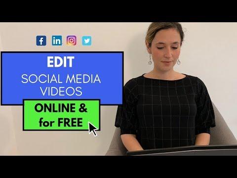 Edit videos for social media| Full tutorial (free online video editor!)