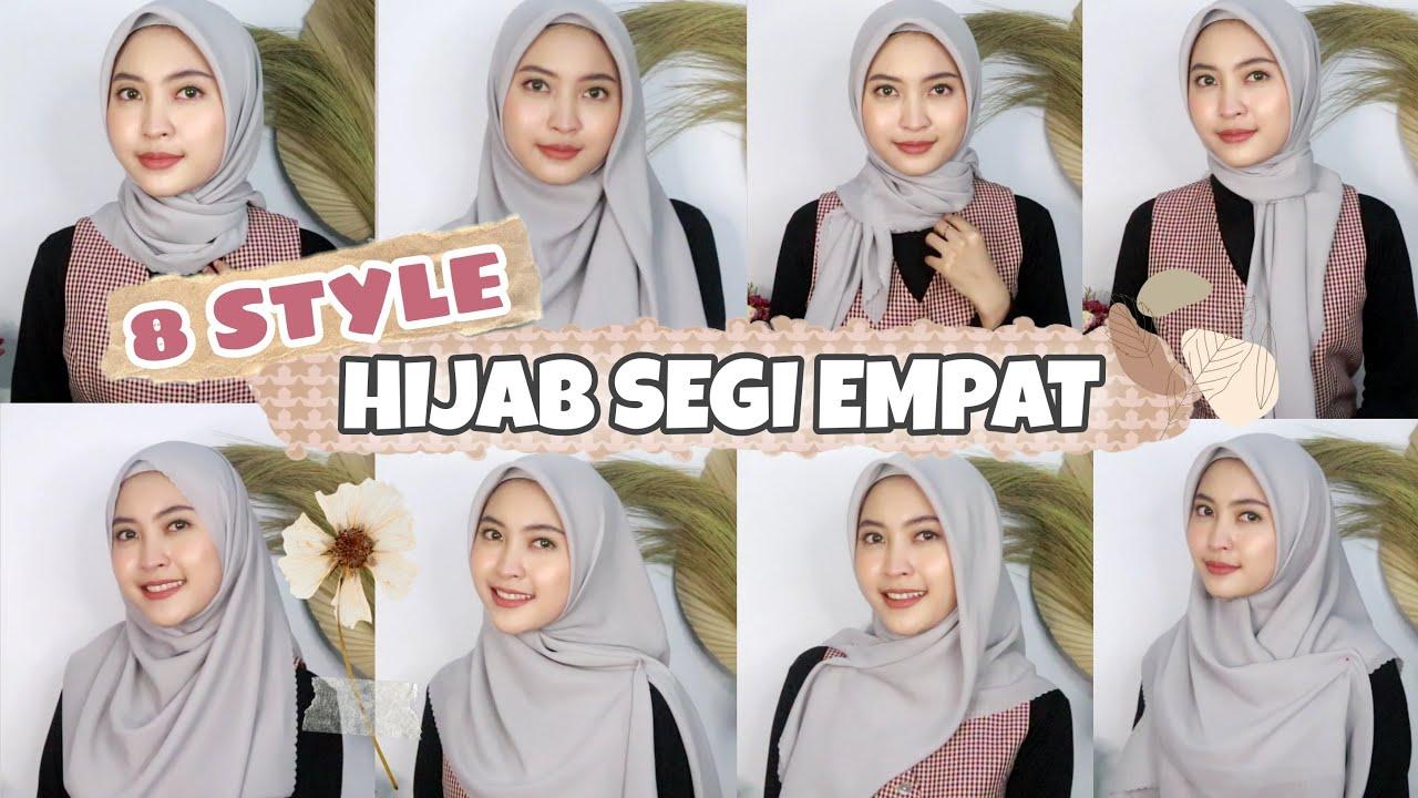 Tutorial Hijab Segi Empat Simple Untuk Sehari Hari Kondangan Wisuda Lamaran Youtube
