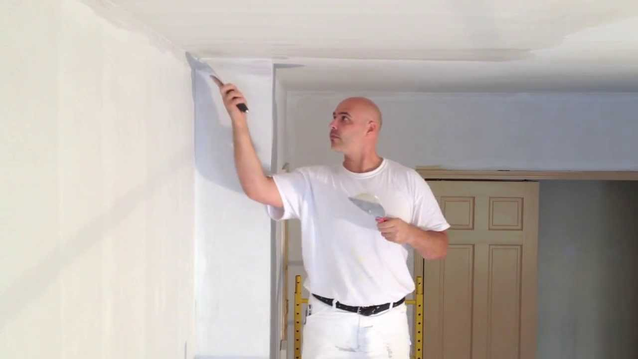 Skim Coating On Ceiling In Carroll Gardens Brooklyn Youtube