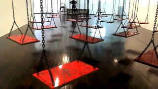 Suspendu by Mona Hatoum ; MAC VAL