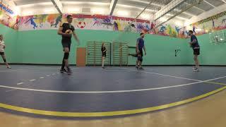 Волейбол.Тренировка верхней передачи и нападающего удара.