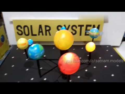 how to make working model of solar system | science working model | 10th class model | solar system