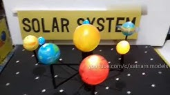 how to make working model of solar system | 10th class science working model | solar system project