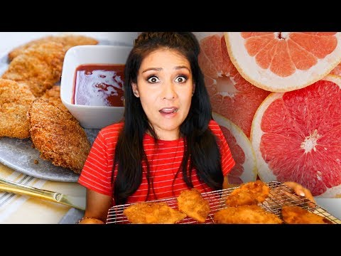 Making CHICKEN from GRAPEFRUIT PEELS?! 😫- Does it WORK???  | Tasty Tuesday