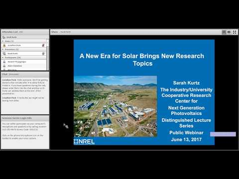 A New Era for Solar Brings New Research Topics
