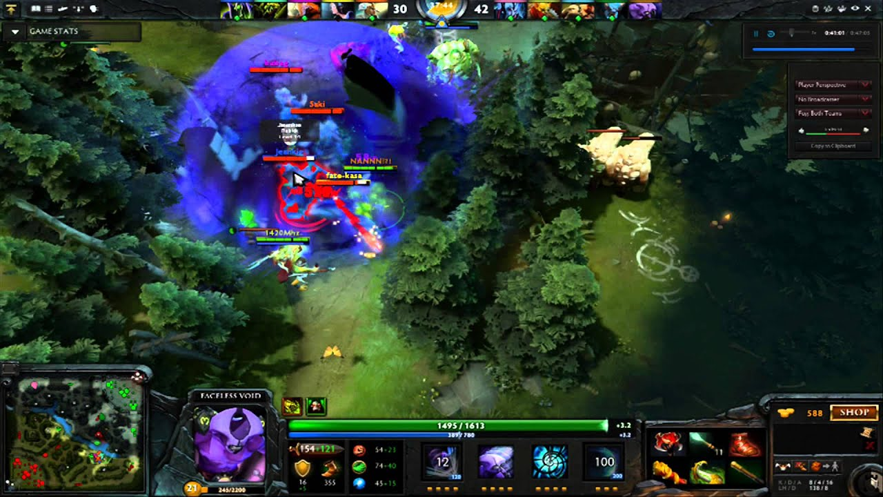 Dota 2 Faceless Void Rampage epic ultimate - YouTube