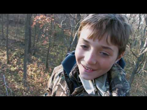 Kid has no sights on his bow and Heart Shoots em!!