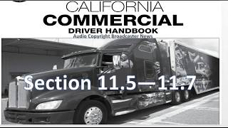 dmv cdl hand book audio calif 2017 section 11 3 11 6