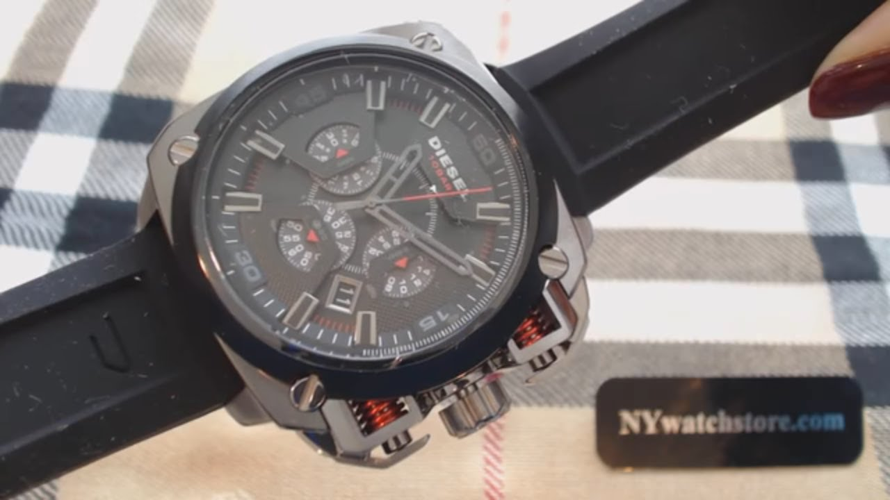 d33499dc9d7 Men s Diesel BAMF Oversized Chronograph Watch DZ7356 - YouTube