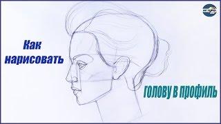 Уроки рисования. Построение головы в профиль Как нарисовать человека в профиль(Скачайте видео урок