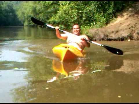 Fat guy kayak slide youtube for Fishing kayak for big guys