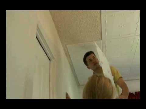 Covering The Popcorn Ceilings YouTube - Can you put beadboard over popcorn ceiling