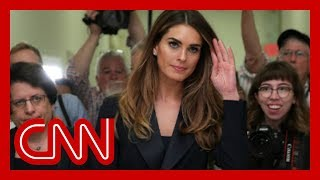 Hope Hicks' House committee testimony revealed
