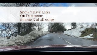 Snow 7 Days Later on Dartmoor  -  Filmed in 4K 60fps on iPhone X