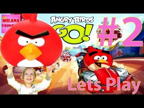 Lets Play Angry Birds GO! Часть 2 Продолжаем играть в гонки Энгри Бертс Го!