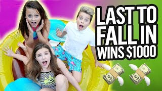 LAST TO FALL IN THE POOL**FREEZING** ❄️❄️ WINS $10,000 CHALLENGE | Gavin Magnus ft. Piper & Friends