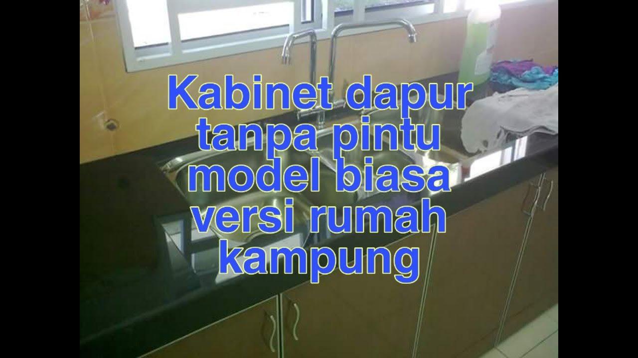 Kabinet Dapur Tanpa Pintu Model Biasa