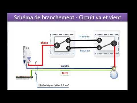 Schemas Pour Brancher Un Va Et Vient Avec 2 Interrupteurs Youtube