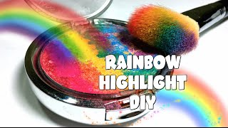 PINTERTEST- RAINBOW HIGHLIGHTER DIY!