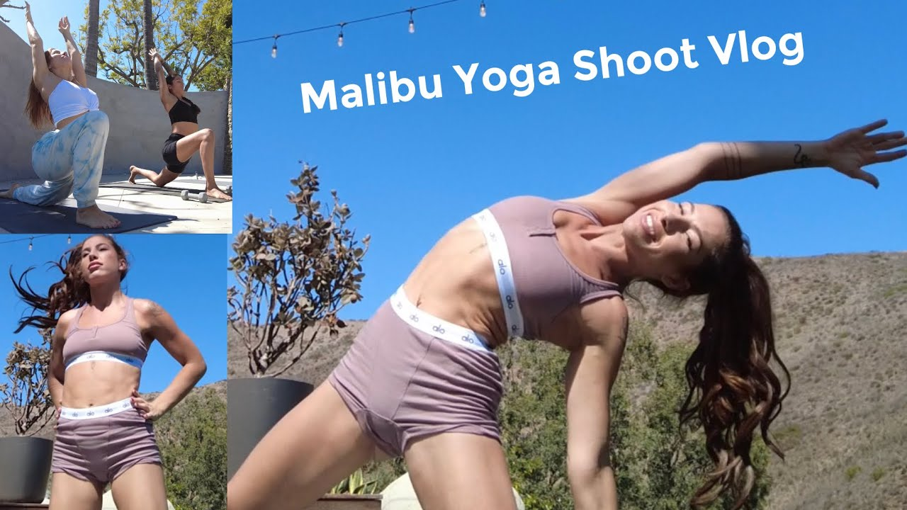 YOGA SHOOT IN MALIBU! Bts Vlog :)