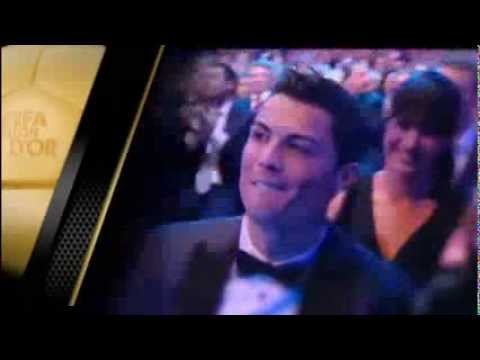 Cristiano Ronaldo Win FIFA Ballon D'Or and kiss Irina Shayk HD