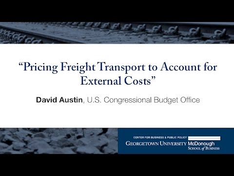 "David Austin presents ""Pricing Freight Transport to Account for External Costs"""
