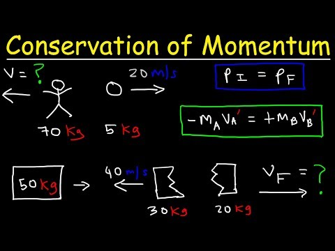 Conservation of Momentum Physics Problems - Basic Introduction
