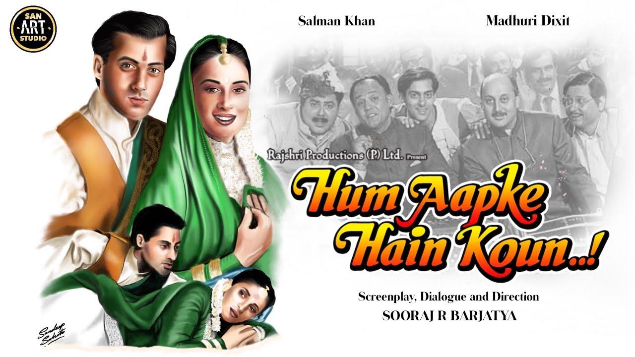 Download HUM AAPKE HAIN KAUN 1994 | Salman Khan | Madhuri Dixit | Monish Behl | Digital Artwork in Procreate