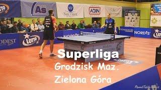Superliga. ZKS Palmiarnia Zielona Góra - Dartom Bogoria Grodzisk Maz. / Tenis Stołowy