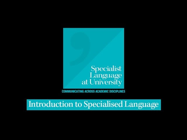 Introduction to Specialised Language