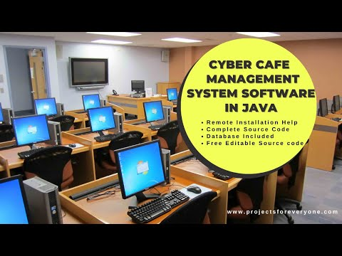 Cyber cafe Management System Software Project in Java with MySql, JDBC and Swing image