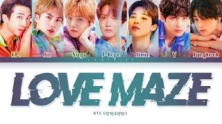 BTS Love Maze Lyrics (방탄소년단 Love Maze 가사) [Color Coded Lyrics/Han/Rom/Eng]