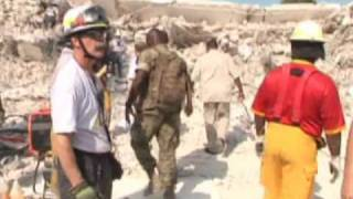 Haiti Earthquake: Ban Ki-moon visits the ruins of the UN
