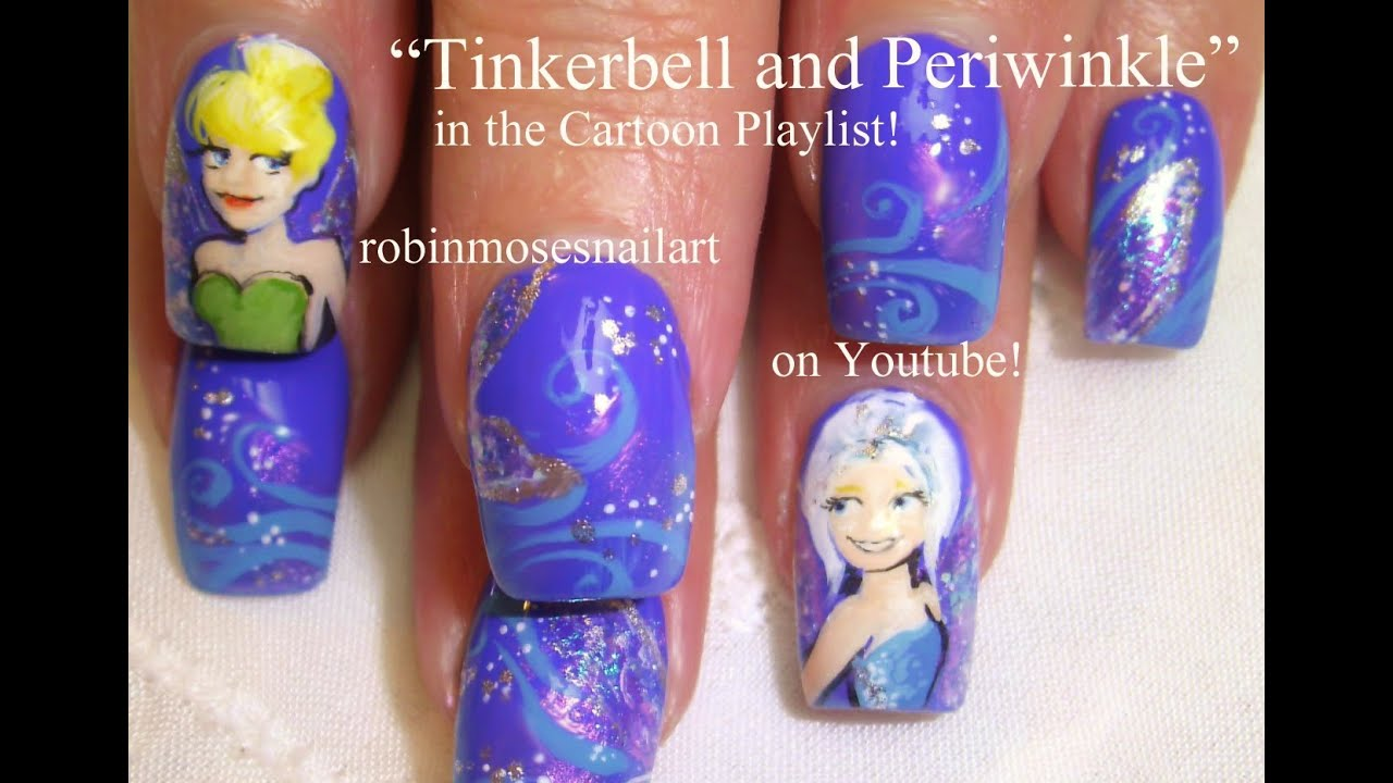 Tinkerbell nail art disney nails design tutorial youtube prinsesfo Gallery