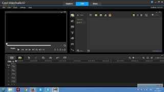 Интерфейс Corel Videostudio PRO X7