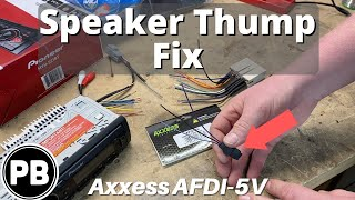 """How To Fix The Turn On """"Thump"""" In Your Speakers"""