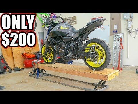 Cheap DIY Motorcycle Lift