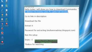 How To Download Commandos 1 Behind The Enemy Lines PC Game Full Version.wmv