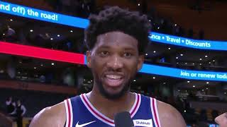 Joel Embiid rejects Rihanna on National TV live interview *Savage * Trust the process